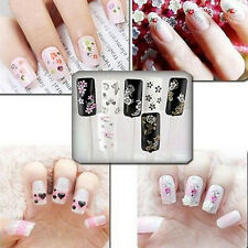 10 Sheets Nail Art Transfer Stickers 3D Design Manicure Tips Decal  X10 PB