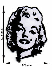 Marilyn Monroe Face Model Singer Sexy Applique Iron on Patch Sew For T-shirt
