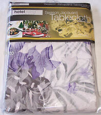 Hotel Living Floral Jacquard Tablecloth 8-10 Seat Oblong 152cm X 260cm New