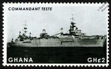 COMMANDANT TESTE Seaplane Tender / WWII Aircraft Carrier Warship Stamp