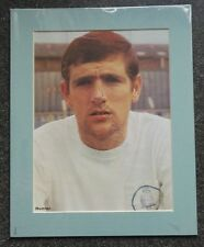 "1960's NORMAN HUNTER - LEEDS UNITED & ENGLAND  SIGNED MOUNTED DISPLAY 10"" x 8"""