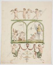 """Franz Xaver Nager (1790-1866), """"Grotesques"""", Watercolor, 1821"""