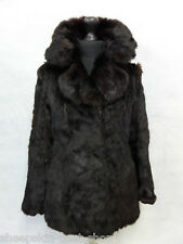Women's french rabbit laine manteau taille 6 MV5426