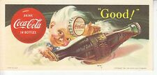 1953  SPRITE BOY WITH BOTTLE CAP COCA-COLA BLOTTER  MINT NOS