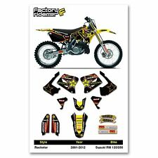 2001-2014 SUZUKI RM 125-250 TEAM ROCKSTAR Dirt bike Graphics kit by Enjoy MFG