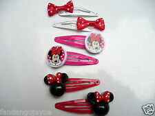 3 x pairs of Hair clips Minnie Mouse set- Costume Jewellery Hair clips