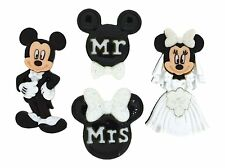 Dress It Up: Button Embellishments - Disney - Mickey and Minnie Wedding