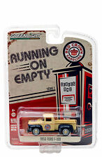GREENLIGHT 1956 FORD F-100 RED CROWN GASOLINE PICKUP TRUCK 1/64 MODEL  41010 A