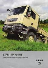 STAR 1444 4x4 BB 2008 POLISH ARMY MAN TG MILITARY BROCHURE PROSPEKT FOLDER