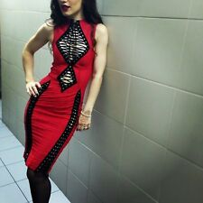 AGENT PROVOCATEUR RED SKYLAR DRESS SIZE MEDIUM / 3 / 10-12 BNWT