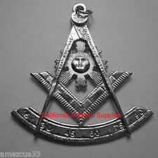 Past Master Silver Tone Jewel For Masonic Collar Regalia Freemasons Pendent
