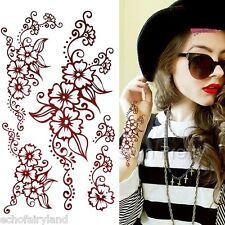 1 Sheet Paisley Mehndi Flower Tattoo Decals Henna Art Mehendi Waterproof Paper