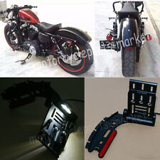 License Plate Side Mount Bracket LED 04-16 For Harley Sportster XL 883 XL 1200