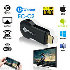Miracast Wifi Display TV Dongle Receiver 1080P HDMI Wireless AirPlay DLNA HDTV