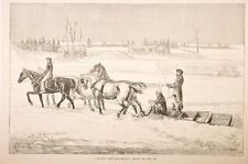 """traineau, canadian sketches, extrait journal """"the illustrated """" vers 1880"""