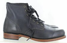 Frye Men's Arkansas Mid Leather Boot Distressed Black Leather Size 11 M US