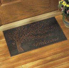 Rubber Metallic Front Door Welcome Mat Doormat Tree Design Entry Outdoor Durable