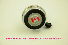 UNUSUAL BICYCLE BELL CANADIAN FLAG 55mm CHROME BIKE BELL LOUD 'RINGER' SOUND