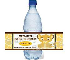 Circle of Life BABY LION KING Baby Shower water bottle label wrappers Free Ship