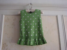 NWT JANIE AND JACK GIRLS DOT SWEATER TOP 4 4T GREEN