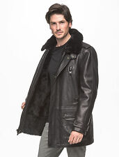 ANDREW MARC Ernest Leather Jacket w/ Removeable Shearling Fur Line & Collar XL