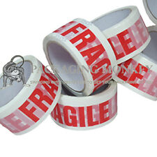 """12 x Rolls Of FRAGILE Printed 2"""" Packing Parcel Tape"""