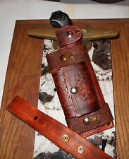 Ka-Bar Becker BK2 Handmade Leather Bush craft Sheath. Vert/Horiz carry
