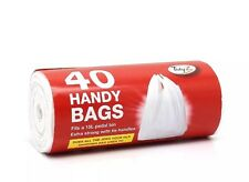 40 Handy Carry Bags With Tie Shopping Bag Easy Carry Suitable For 15L Paddle Bin
