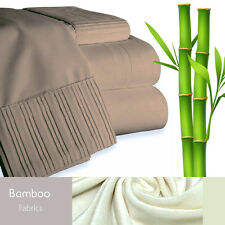 Bamboo Living Eco-Friendly 3 Piece Duvet Cover Pillowcases Set - King - Taupe