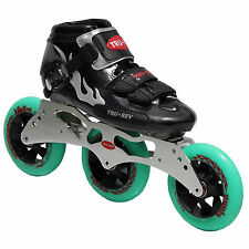 Inline Speed Skates by Trurev  3 skate frame, ceramic bearings, 110mm wheels