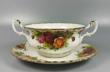 Royal Albert Old Country Roses Crema COUPE Zuppa e Piattino ORIGINALE B/timbro.