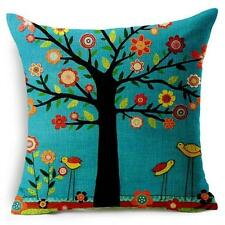 Colourful Linen Square Throw Flax Pillow Case Decorative Cushion Pillow Cover UK
