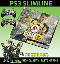 PLAYSTATION PS3 SLIM FIFA 17 Football Marco Reus STICKER SKIN & 2 X PAD SKINS