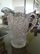 Crystal Pitcher Marked Juice Milk Water Detailed Old Shiny and Gorgeous