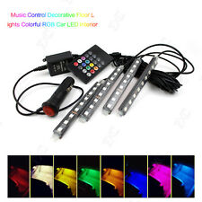9LED Wireless Remote/Music/Voice RGB Car Interior Floor Decorative Colorful Neon