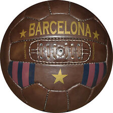 BARCELONA soccer ball  - Vintage Leather Soccer Ball 1966 -- 100% leather