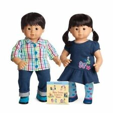 American Girl Bitty Twins Asian boy and girl set NEW in box pair