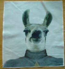 Animal Selfie Llama Fabric, Material Remnant 10 inch x 8.5 inch