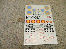 Classic Airframes decals 1/48 Kit#475 Fiat CR 42   My ref - Box 4  Lot 9