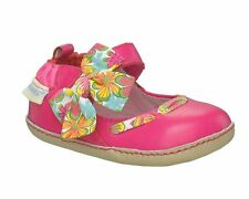NIB Robeez Shoes Mini Shoez Bow Crazy Hot Pink 3-6m 2