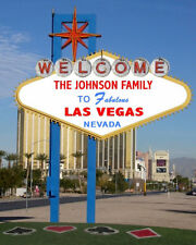 Personalized Welcome To Las Vegas Sign Photo 8x10 Strip