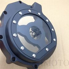 Billet Engine Stator cover see through FOR Suzuki 2005-2008 GSXR1000 Black left