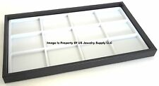 12 Black Trays 12 Space White Jewelry Display