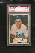 1952 Topps # 1 Andy Pafko RB PSA 2 Good