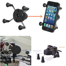 Motorcycle Bicycle MTB Handlebar Clip Mobile Cellphone Mount Holder &USB Charger