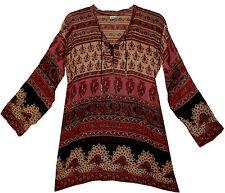 Indian cotton BLOUSE TOP BOHO BLUSA gypsy  retro TUNIC ETHNIC hippie WOMEN EHS