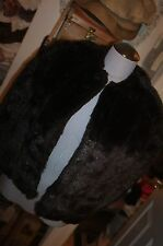 Vintage dark brown Faux Mink Sheared fur Capelet MINT CONDITION one size