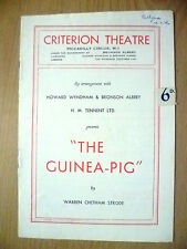 Criterion Theatre Programme 1946- H M Tennent's THE GUINEA PIG by W C Strode