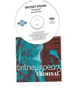 BRITNEY SPEARS 'CRIMINAL' NEW & MEGA RARE OFFICIAL US 7 TRACK CD PROMO