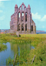 OLD POSTCARD -YORKSHIRE- Whitby Abbey - c1968